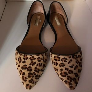 Halogen Leopard/Cheetah Calf Hair Flats US8
